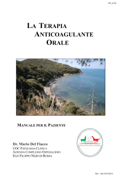 Manuale per la Terapia Anticoagulante Orale