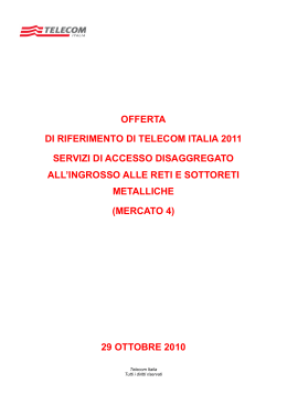 ULL OR 2011 def - Telecom Italia Wholesale Voice Services