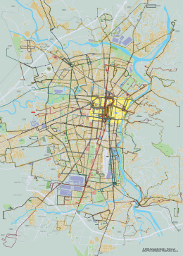 Map of TORINO in PDF