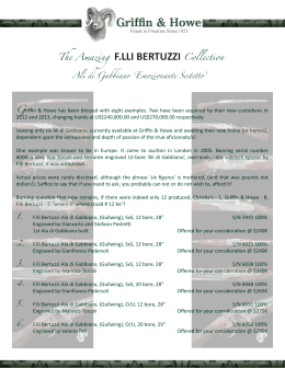 The Amazing F.LLI BERTUZZI Collection