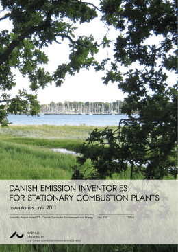 Danish emission inventories for stationary combustion plants