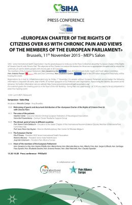 european charter of the rights of citizens over 65 with chronic