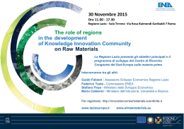 The role of regions in the development of Knowledge Innovation