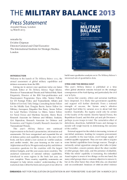 THE MILITARY BALANCE 2013 - International Institute for Strategic