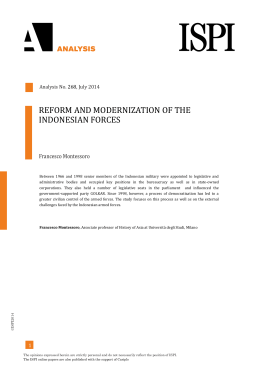reform and modernization of the indonesian forces