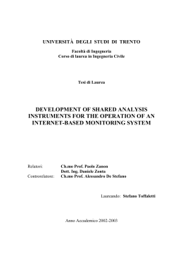 development of shared analysis instruments for the