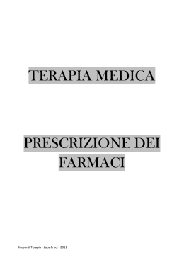 TERAPIA MEDICA - Appuntimedicina.it