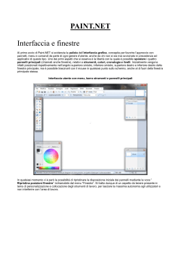 PAINT.NET Interfaccia e finestre