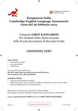 Kangourou Italia Cambridge English Language Assessment Gara