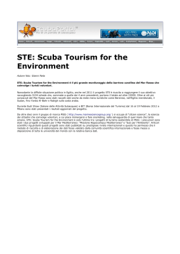 STE: Scuba Tourism for the Environment