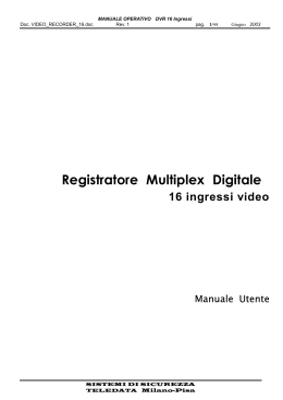Registratore Multiplex Digitale 16 ingressi video