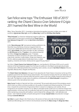 "San Felice wine tops ""The Enthusiast 100 of 2015"" ranking: the"