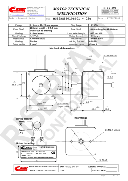 MOTOR TECHNICAL SPECIFICATION