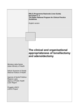 The clinical and organisational appropriateness of - SNLG-ISS