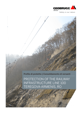 protection of the railway infrastructure line 100 teregova