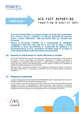 scheda ACG Fast reporting