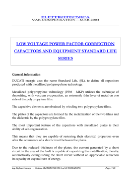 low voltage power factor correction capacitors and