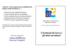 AAWA Child Abuse Flyer - Italian version
