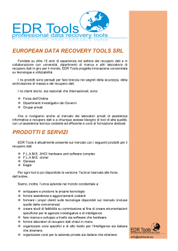 EUROPEAN DATA RECOVERY TOOLS SRL
