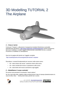 3D Modelling TUTORIAL 2 The Airplane