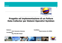 Progetto ed implementazione di un Failure Data Collector per