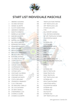 START LIST INDIVIDUALE MASCHILE