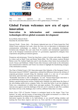 Press Release - Global Forum
