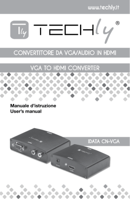 CONVERTITORE DA VGA/AUDIO IN HDMI VGA TO HDMI