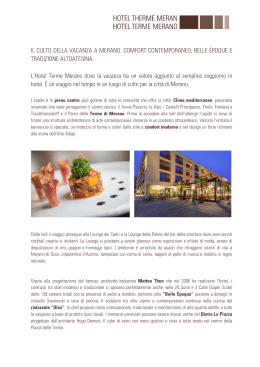 Hotel Therme Merano Official Partner MWF2015