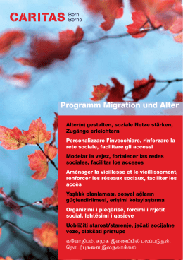 Flyer Programm Migration und Alter 2016