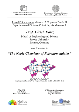 The Noble Chemistry of Polyoxometalates