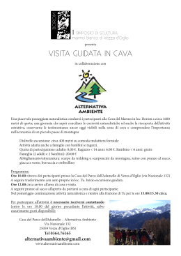 VISITA GUIDATA IN CAVA