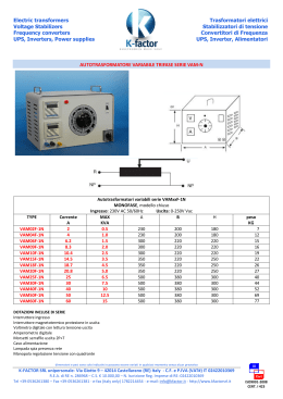 Electric transformers Voltage Stabilizers Frequency - K