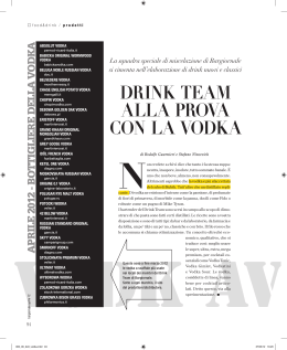 DRINK TEAM ALLA PROVA CON LA VODKA