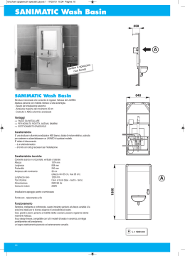 SANIMATIC Wash Basin