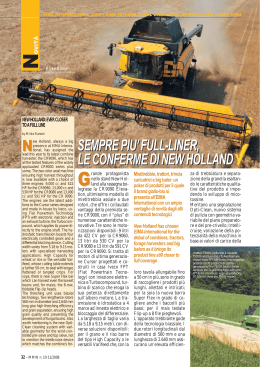 sempre piu`full-liner, le conferme di new holland sempre piu`full