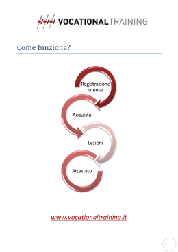 Come funziona? - Vocational Training srl
