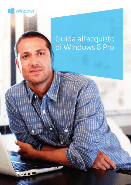 Guida all`acquisto di Windows 8 Pro