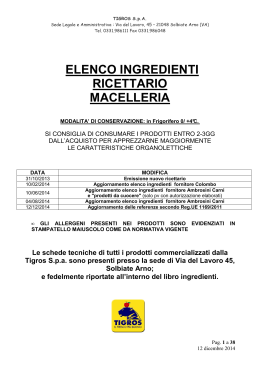Consulta il libro ingredienti