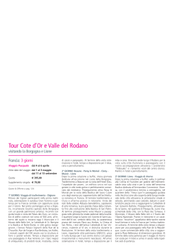 Tour Cote d`Or e Valle del Rodano