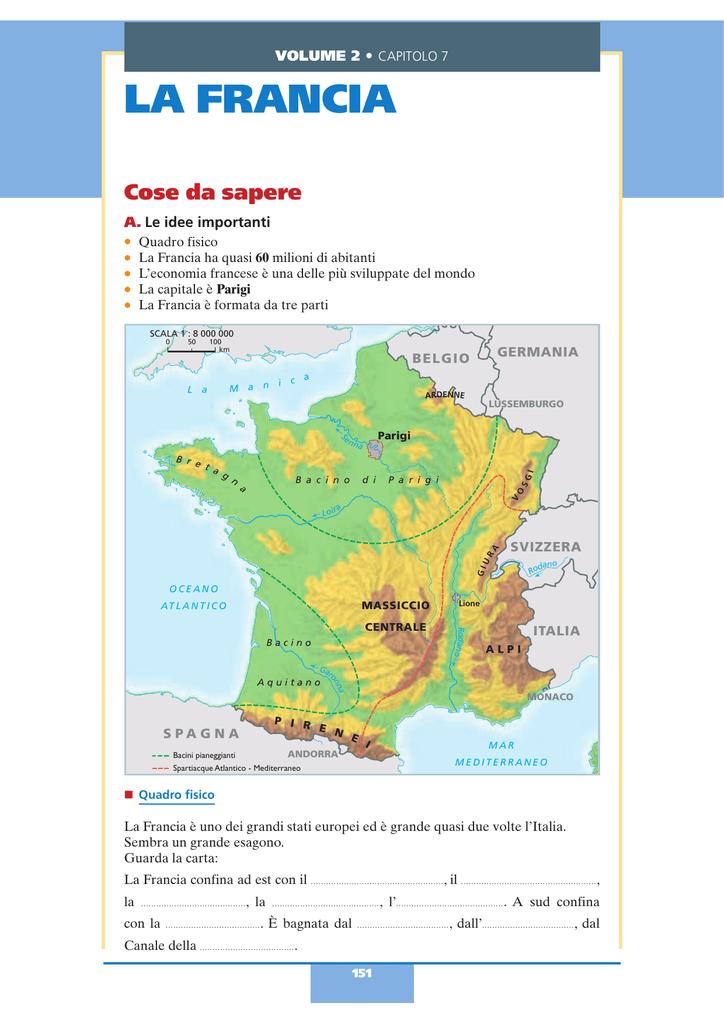 Cartina Monti Francia.La Francia Benvenuti Nella Scuola Italiana