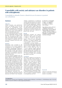 Comorbidity with anxiety and substance use disorders in patients