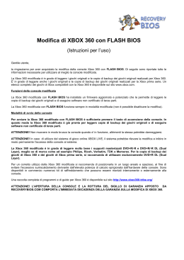 Modifica Xbox 360 con FLASH BIOS