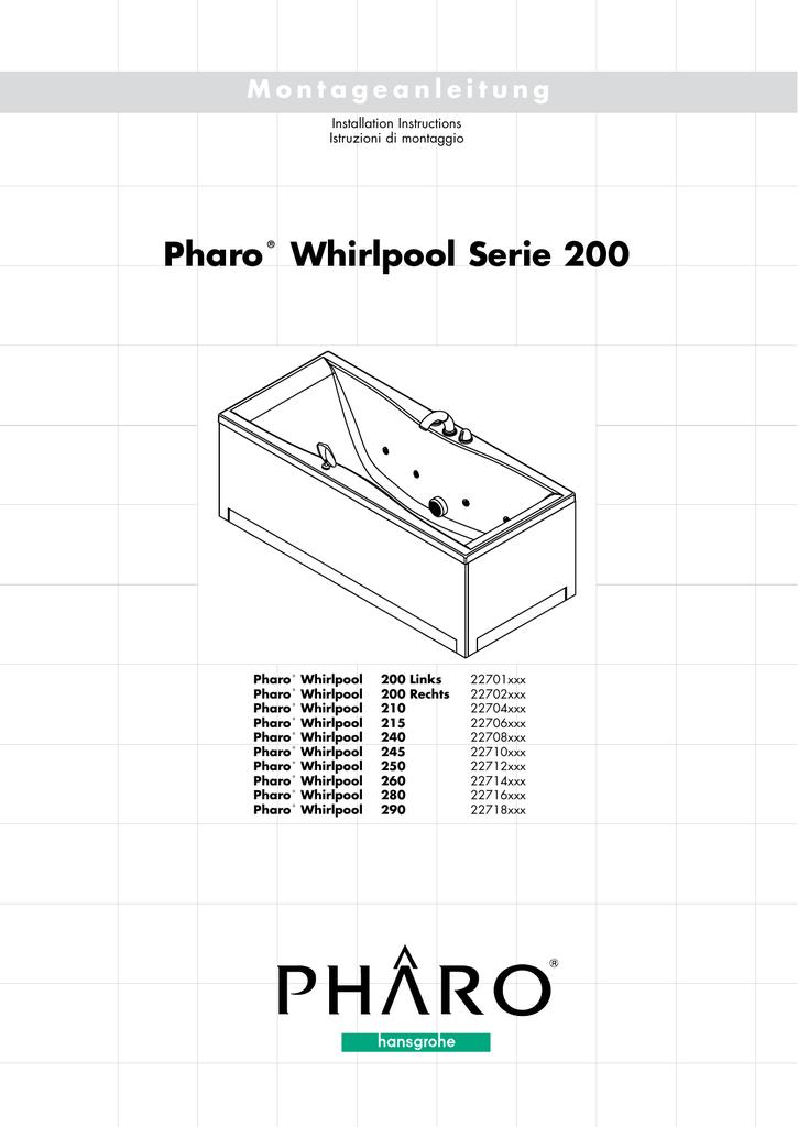Hansgrohe Pharo Wannenschürze Für Whirlpool Serie 200 290 Frontschürze 22718100 Business & Industrie