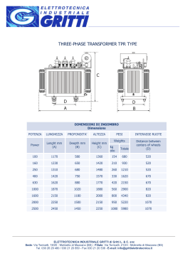 TPR transformer technical card and specifications