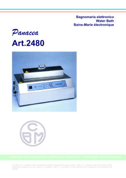 Panacea - CBM srl. Medical Equipement