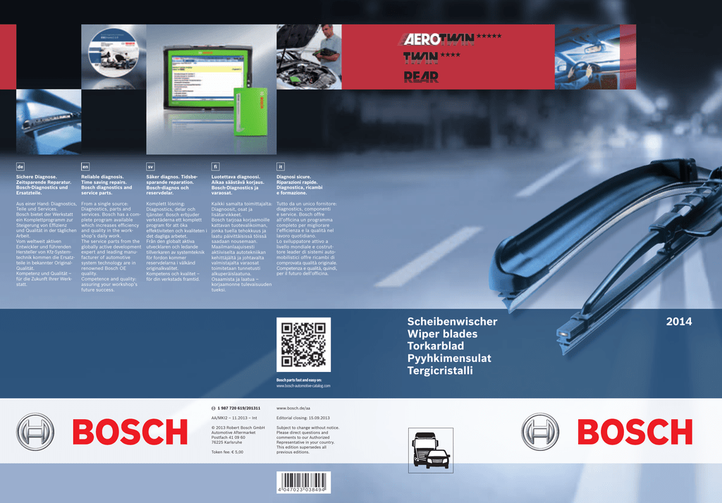 Bosch Aerotwin Windscreen Wiper A297S and A381H Complete Set Front and Back