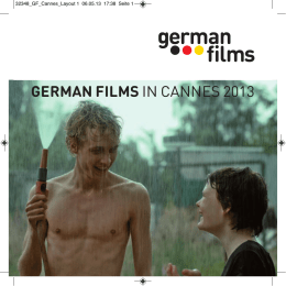 German Films IN CANNES 2013