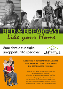 progetto B&B Like your Home