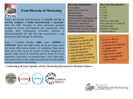 Breve Brochure - Freni Ricerche di Marketing